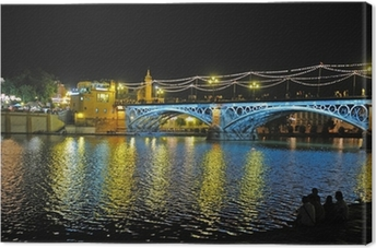 Canvas premium Triana Bridge, Sevilla, Spanje