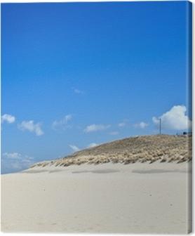 Canvas premium Vuurtoren in de duinen bij het strand