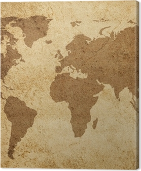 Canvas premium Wereldkaart textuur achtergrond
