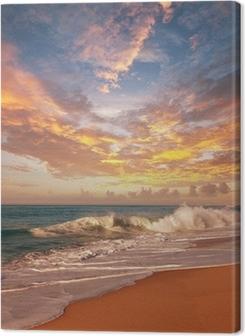 Canvas premium Zee zonsondergang