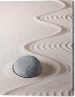 Canvas premium Zen meditatie steen