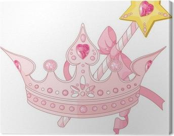 Canvas Princess kroon en toverstokje