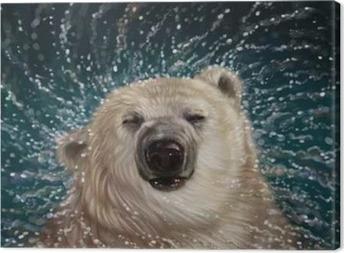 Белый медведь Canvas Print