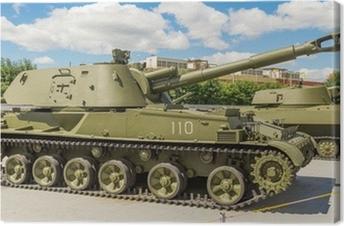 тяжелый танк экспонат военного музея Canvas Print