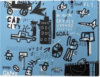 Граффити Canvas Print