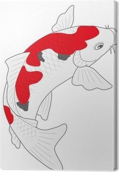 鯉 錦鯉 Canvas Print