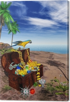 3D - EGN - Treasure - Pirate Canvas Print