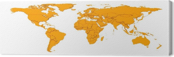 3d embossed countries borders worldmap canvas print pixers we 3d embossed countries borders worldmap canvas print wall decals gumiabroncs Gallery