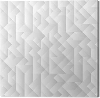 3d grey geometric background Canvas Print