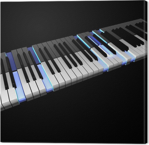 3d Piano Keyboard With Lighting Pushed Keys Canvas Print Pixers