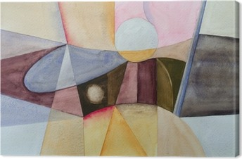 a modernist abstract watercolor Canvas Print