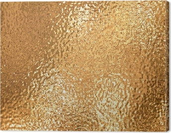 a very large sheet of fine crinkled gold aluminium foil Canvas Print