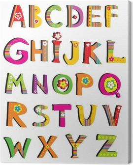 ABC. vector flower font. Canvas Print