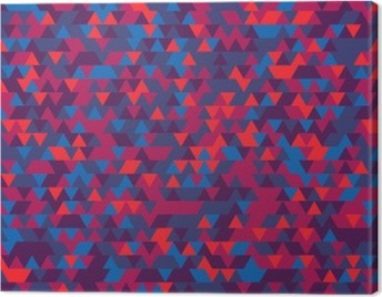 Abstract background of the triangles. The gradation of Violet. Violet hues. Canvas Print