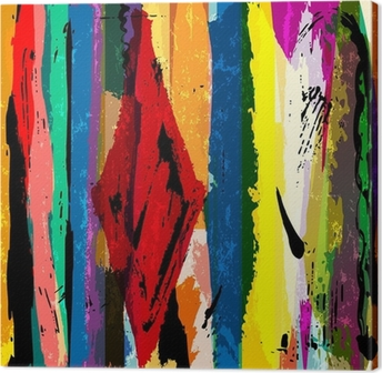 abstract background, with stripes, paint strokes and splashes, a Canvas Print