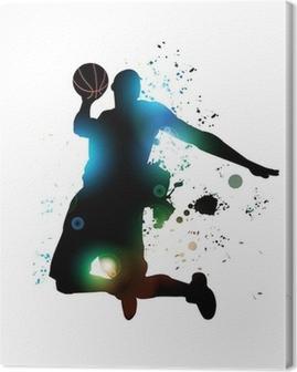 Abstract Basketball Player Canvas Print