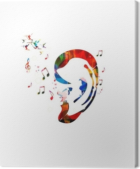 Abstract colorful ear vector Canvas Print