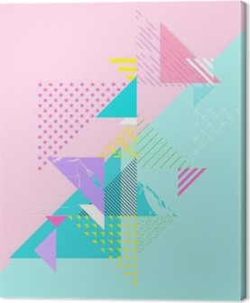 Abstract colorful geometric composition Canvas Print