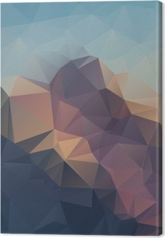 Abstract geometric colorful background. Mountain peaks. Composition with triangles geometric shapes. polygon landscape. Canvas Print