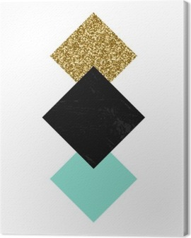 Abstract Geometric Composition Canvas Print