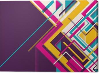 Abstract geometric illustration. Canvas Print