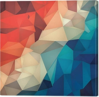 Abstract geometric low poly background. Canvas Print