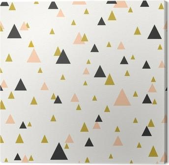 Abstract Geometric Seamless Pattern Canvas Print