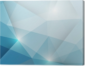 Abstract geometric triangles background Canvas Print