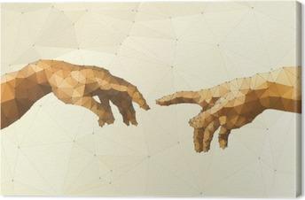 Abstract God's hand vector illustration Canvas Print