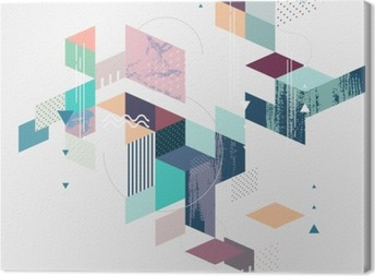 Abstract modern geometric background Canvas Print