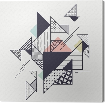 Abstract modern geometric composition Canvas Print