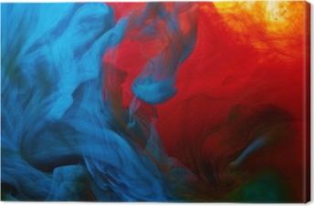 Abstract paint splash Canvas Print