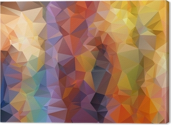 Abstract polygonal background Canvas Print