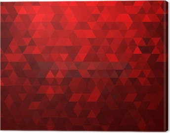 Abstract red mosaic background Canvas Print