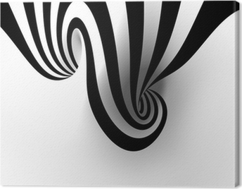 Abstract spiral with empty space Canvas Print