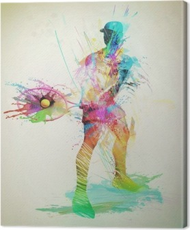 Abstract tennis player Canvas Print