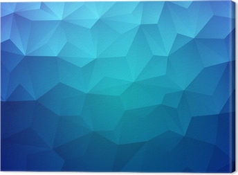 Abstract Triangle Geometrical Colorful Background Canvas Print