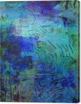 acrylfarben auf holzplatte Canvas Print