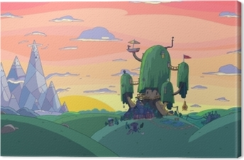 Adventure Time: Fort Canvas Print