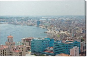 Aerial view of the Havana shore Canvas Print