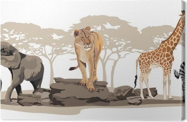 african animals canvas print pixers we live to change