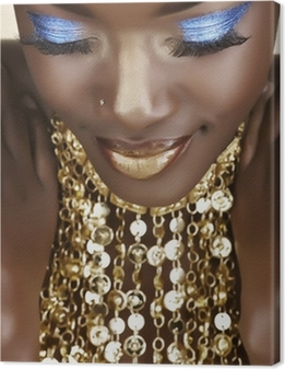 African woman with gold Canvas Print