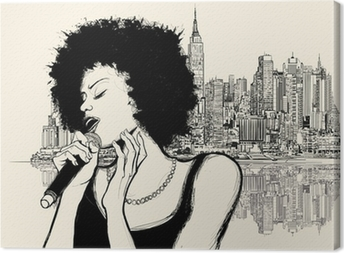 afro american jazz singer Canvas Print