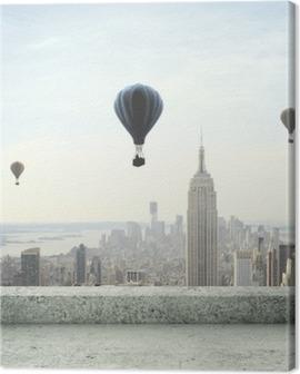 air balloon on sky Canvas Print