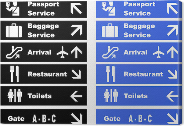 Airport Signs Canvas Print Pixers We Live To Change