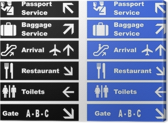 Airport Signs Canvas Print