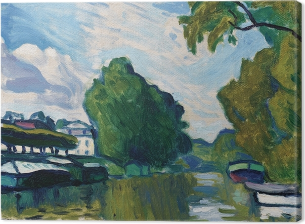 Albert Marquet - Edges of the Seine near Poissy Canvas Print - Reproductions