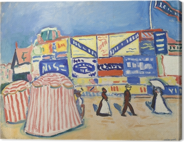 Albert Marquet - Posters in Trouville Canvas Print - Reproductions
