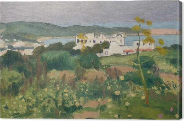 Albert Marquet - Square at the Archbishop's Palace in Sidi-Bou-Saïd Canvas Print - Reproductions