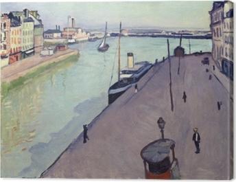 Albert Marquet - View of Le Havre harbour (Notre Dame wharf) Canvas Print